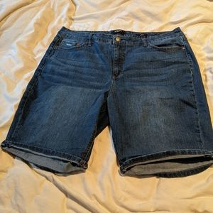 Nine West Bermuda Cuffed Jean Shorts